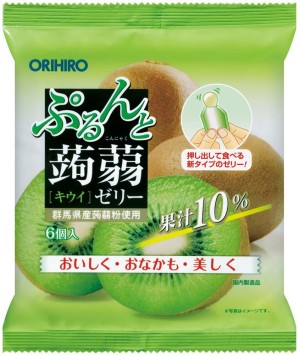 Желе из конняку со вкусом киви Orihiro Kiwi Jelly