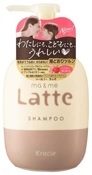 Бессульфатный шампунь с протеинами для мамы и ребенка Kracie Ma & Me Latte Shampoo