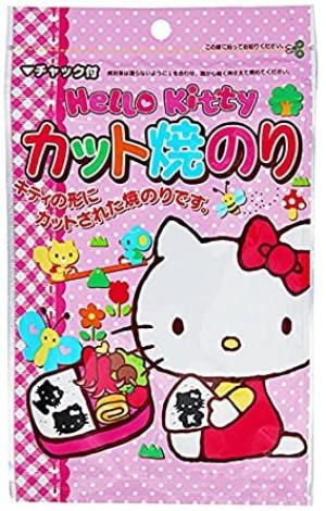"Фигурные листы нори ""Hello Kitty"" для приготовления бенто Marunami Hello Kitty Nori Curly Sheets"