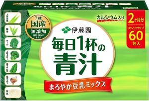 Аодзиру с соевым молоком Ito En 1 Cup Daily Green Juice Mellow Soy Milk Mix