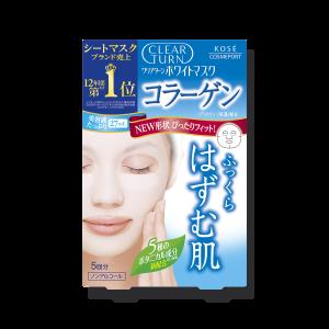 Осветляющая увлажняющая маска с коллагеном и экстрактом бузины Kose Clear Turn White Collagen Mask