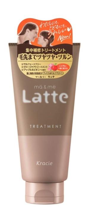 Восстанавливающая маска для волос с протеинами для мамы и ребенка Kracie Ma & Me Latte Treatment
