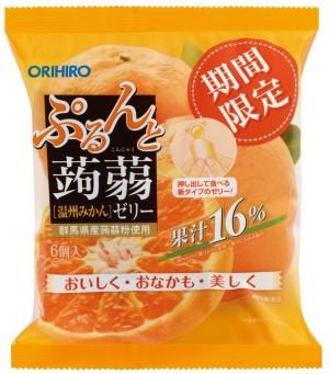 Желе из конняку со вкусом мандарина Orihiro Jelly Mandarin
