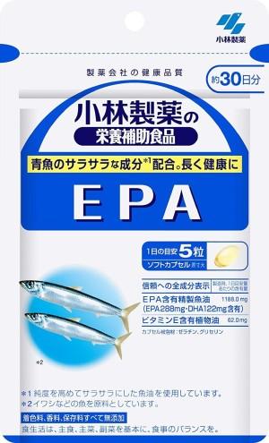 Комплекс для сердечно-сосудистой системы с EPA и витамином Е Kobayashi EPA