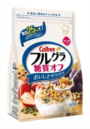 Гранола с пониженным содержанием углеводов Calbee Frugra Granola Carbohydrate Off