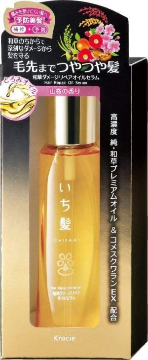 Сыворотка для восстановления поврежденных волос Kracie Ichikami Damage Repair Oil Serum