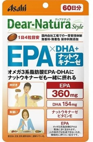 Комплекс для поддержания здоровья Asahi Dear Natural Style EPA x DHA + Nattokinase