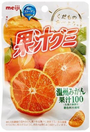 Желейные конфеты с коллагеном Meiji Fruit juice Gumi со вкусом апельсина