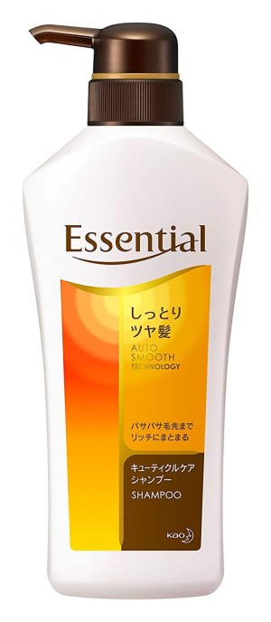 Шампунь для увлажнения и сияния волос Kao Essential Moist Shiny Hair Shampoo