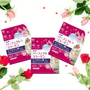 Набор Весна-Лето: Амино коллаген ASAHI PERFECT COLLAGEN с гиалуроновой кислотой на 60 дней 3шт