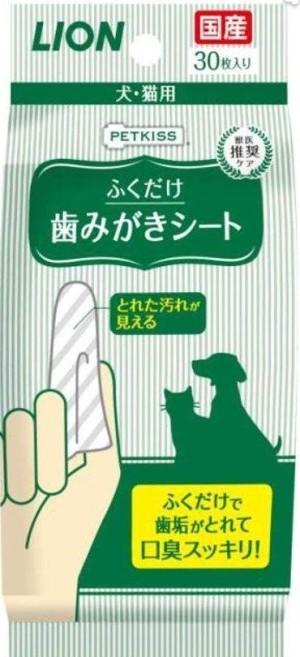 Напальчник - салфетка для чистки зубов собаки LION Dental Sheet Dog