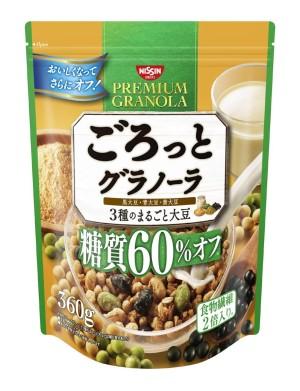 Гранола с тремя видами соевых бобов Nissin Cisco Gourmet Granola 3 Whole Soybeans 60% Off Carbohydrates