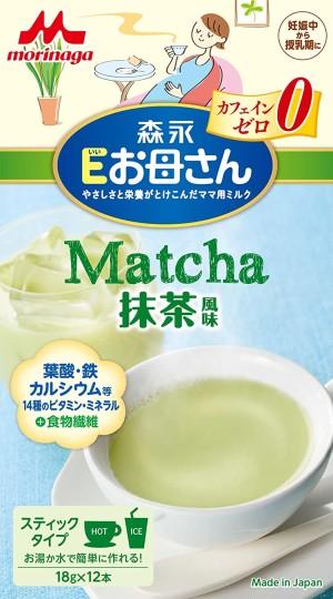 Быстрорастворимый витаминный напиток для поддержания организма в период беременности и лактации со вкусом матча Morinaga E Mom Matcha