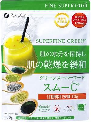 Смузи с гиалуроновой кислотой и витаминами Fine Japan Green Superfood SMOO-C