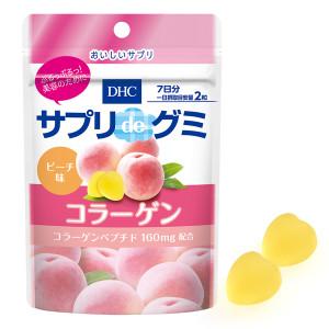 Жевательные конфеты с коллагеном со вкусом персика DHC Supplement de Gummy Collagen