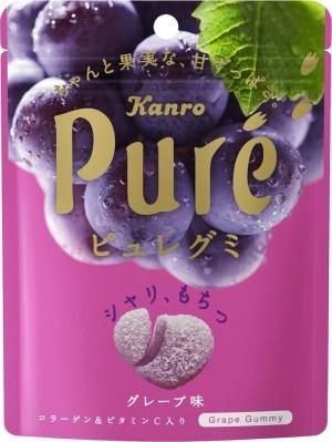 Мармеладки с коллагеном Kanro Pure со вкусом винограда