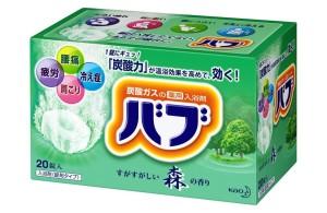 Газированные таблетки (соль для ванн) KAO BUB с ароматом хвои