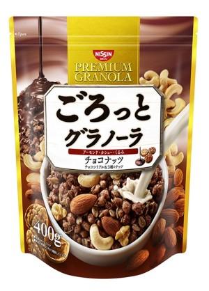 Шоколадная гранола с миндалем, кешью и грецкими орехами Nissin Cisco Gourmet Granola Chocolate Nut