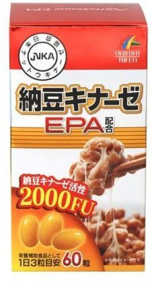 Комплекс для поддержания сердечно-сосудистой системы Unimat Riken Nattokinase EPA