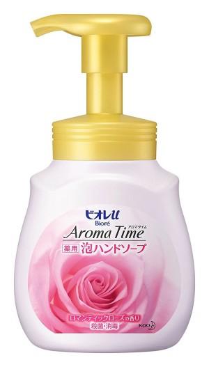 Увлажняющее жидкое мыло с ароматом розы Kao Biore Aroma Time Foam Hand Soap