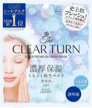 Увлажняющая маска с осветляющим эффектом Kose Clear Turn Super Premium Fresh Mask Transparency