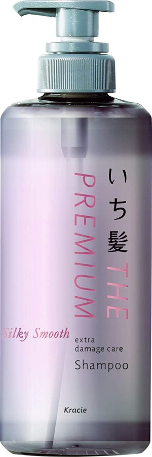 Восстанавливающий шампунь для гладких, шелковистых волос Kracie Ichikami THE PREMIUM Silky Smooth Extra Damage Care Shampoo