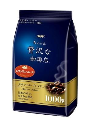 Японский кофе в зернах грубого помола AGF Special blend