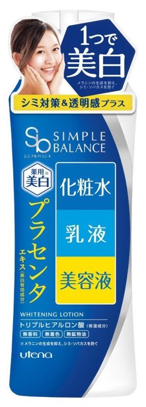 Осветляющий лосьон с экстрактом плаценты Utena Simple Balance Whitening Lotion