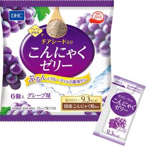 Желе из конняку с семенами чиа DHC Konjac Jelly With Chia Seeds (Grape Flavor)