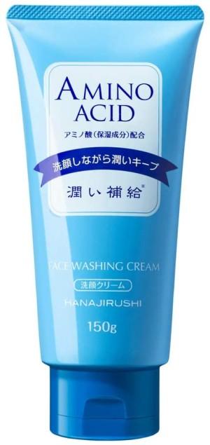 Крем для умывания с аминокислотами для сухой, чувствительной кожи HANAJIRUSHI Face Washing Cream Amino Acid