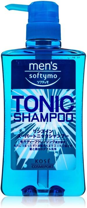 Интенсивно очищающий и освежающий шампунь Kose Men's Softymo Super Tonic Shampoo