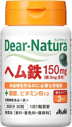 Железо + фолиевая кислота Asahi Dear-Natura Heme Iron