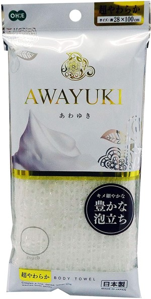 Мочалка-полотенце для тела Awayuki Body Wash Towel Rich lather