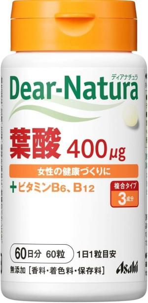 Фолиевая кислота ASAHI Dear-Natura Folic Acid + V.B6 + V.B12